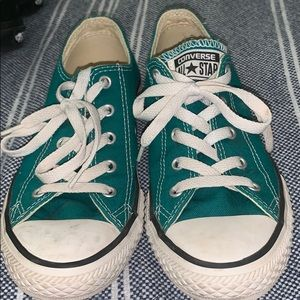 Teal colored converse